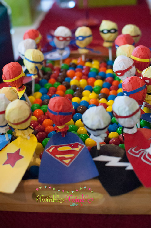 Superhero - Lollipop Stick Capes