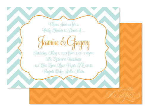 Chevron Chic - Digital Invitation