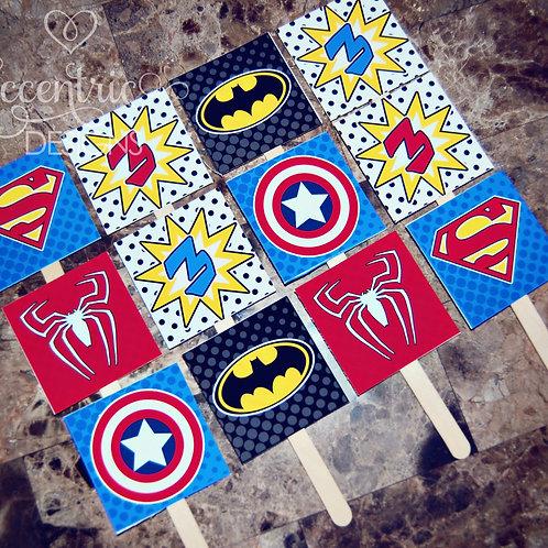 Superhero - Cupcake Toppers