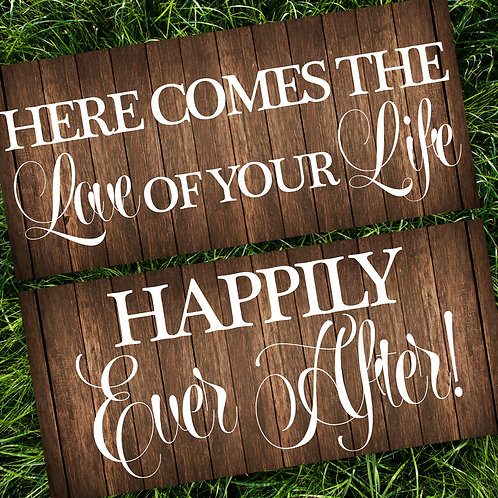 Love of Your Life/Happily Ever After Wedding Signs