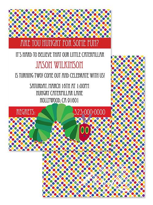 Hungry Caterpillar - Digital Birthday Invitation