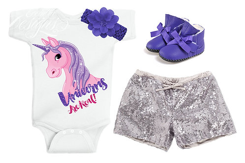 Unicorns Are Real - Baby Iron-on Tshirt Transfer