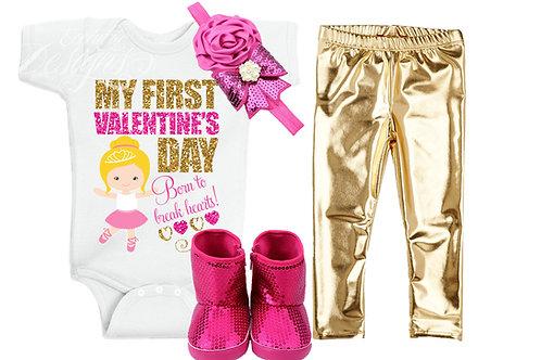 My First Valentine's Day - Iron-on Tshirt Transfer