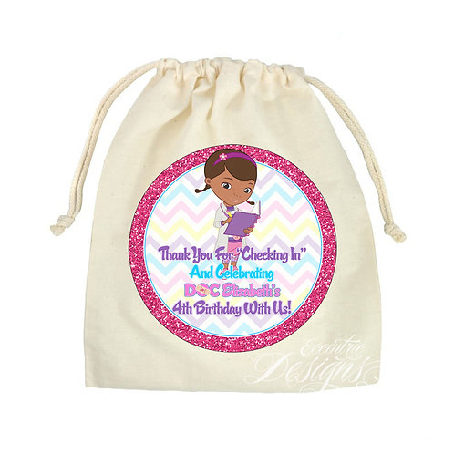 "Doc McStuffins - 8"" Favor or Treat Bag Stickers"