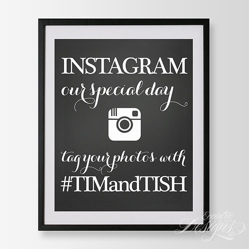 16X20 - Social Media (Instagram) Wedding Sign