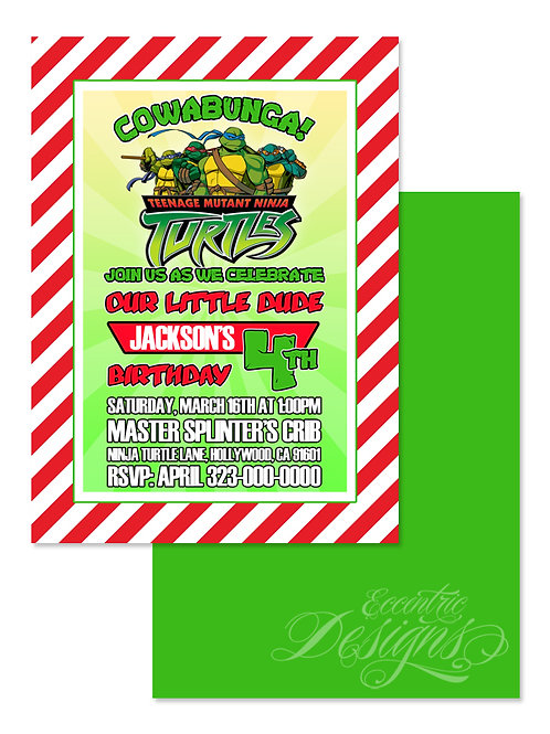 Teenage Mutant Ninja Turtles - Birthday Invitation