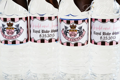 Juicy Couture - Water Bottle Labels