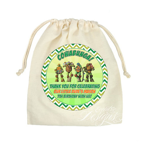 "TMNT - 8"" Digital Favor or Treat Bag Sticker"