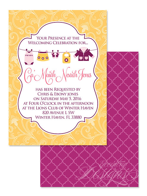 Fashionista - Digital Babyshower Invitation
