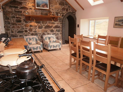 Gelncorse farmhouse kitchen with aga