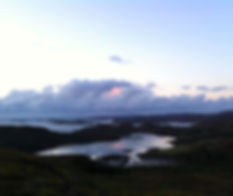Glencorse holiday cottage Assynt View of the Atlantic Ocean from hill behind