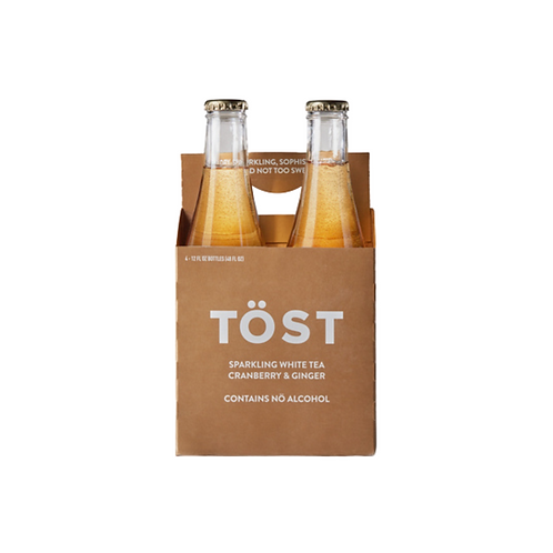 Tost Sparkling White Tea with Cranberry and Ginger - 4 pk