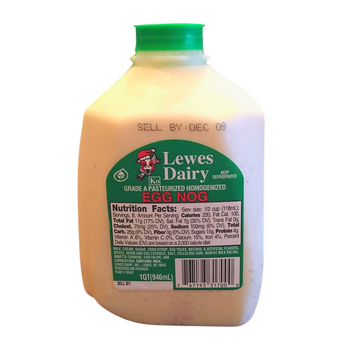 Eggnog from Lewes Dairy