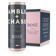 Amble & Chase Rose, 250ml 4 pack cans