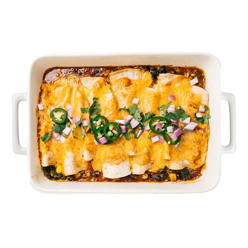 Vegetarian Sweet Potato and Black Bean Enchiladas
