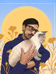 Johnny with Cat