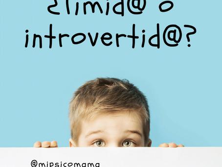¿Tímido o introvertido?