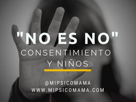 No es no, consentimiento en niños