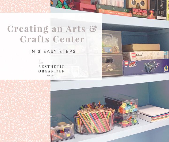Creating an Arts & Crafts Station in 3 Easy Steps