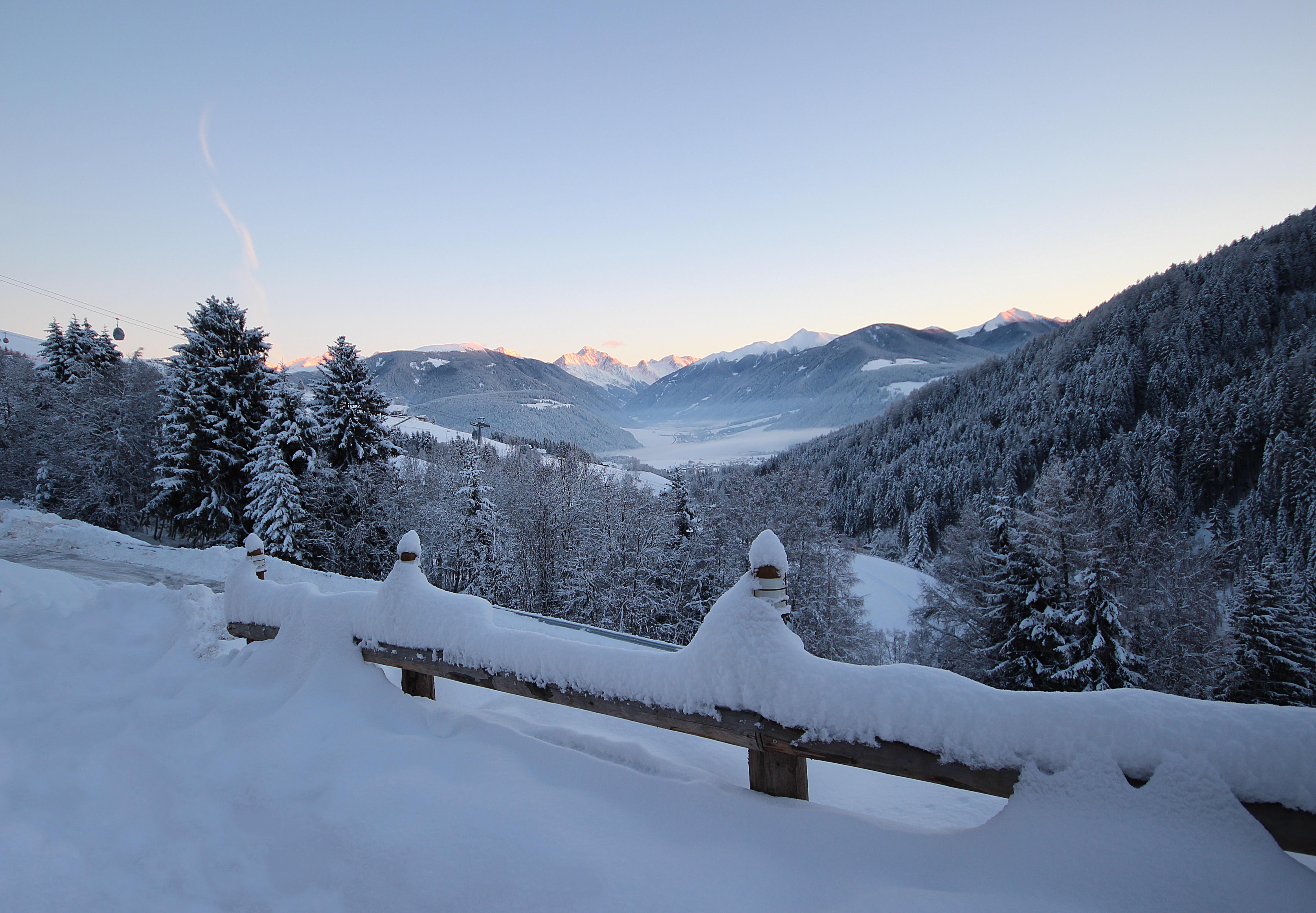 Residenz Erschbaum Morgenrot Winter