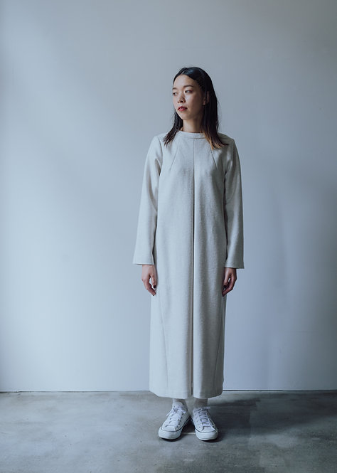 wool front tuck one-piece