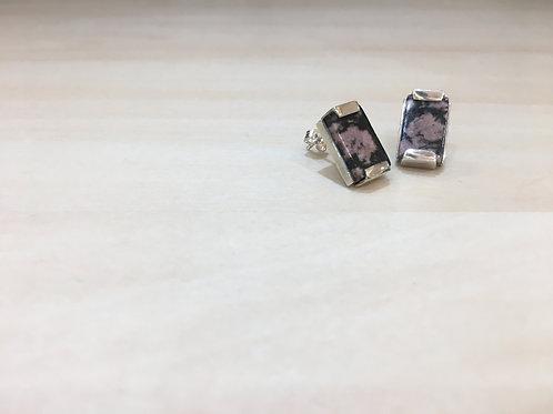 rhodenite earrings
