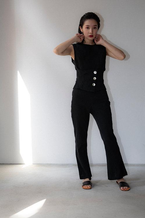 no sleeve blouse + corset
