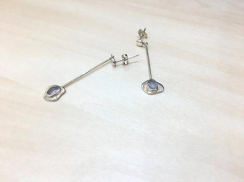 blue-chalcedony earrings