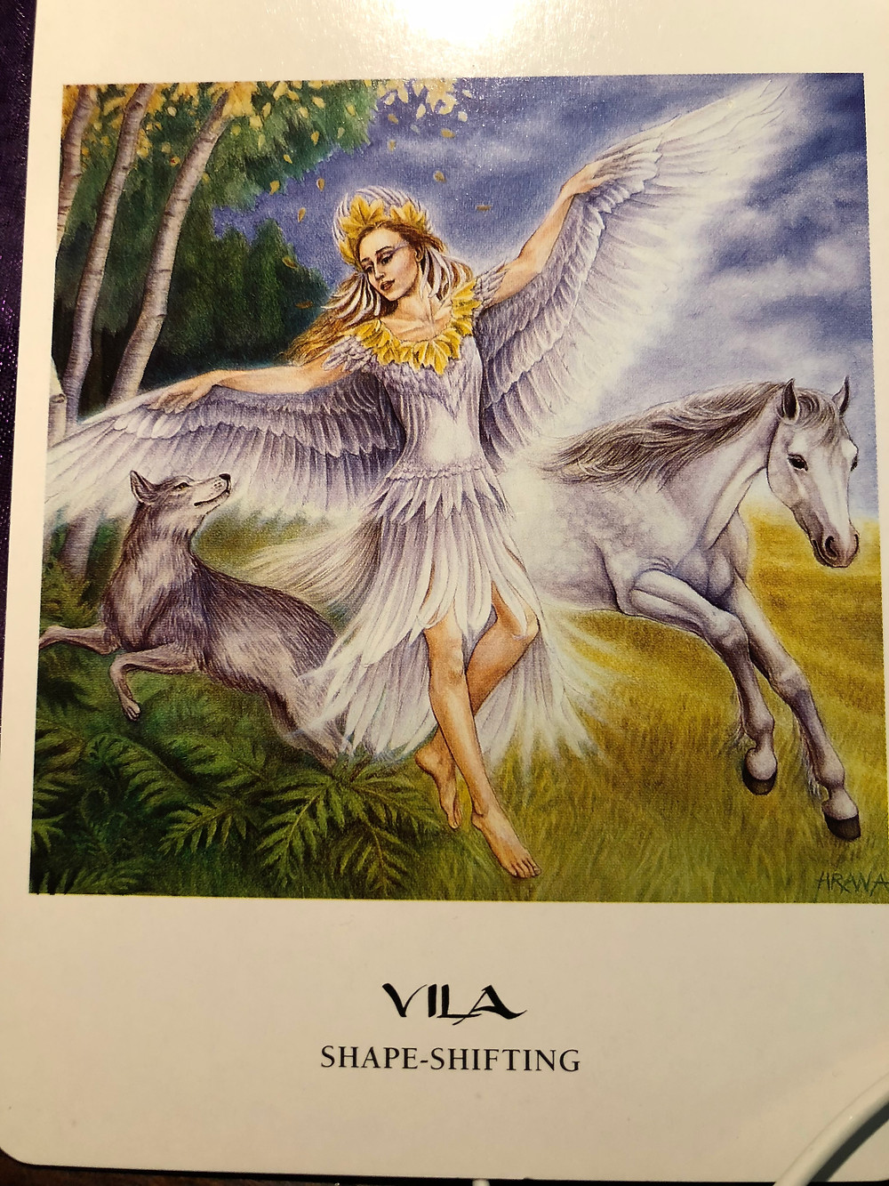 Vila Card - winged goddess - from The Goddess Oracle