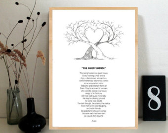 Rumi - The Guest House, from mattiedotdk on Etsy