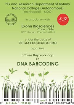 Invitation of DNA Barcoding Workshop