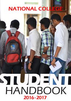 Student handbook 2016-2017 Frontpage cop