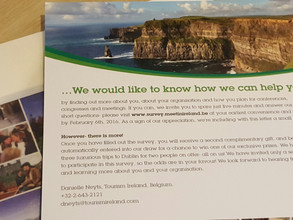 Direct mailing & MICE survey for Tourism Ireland