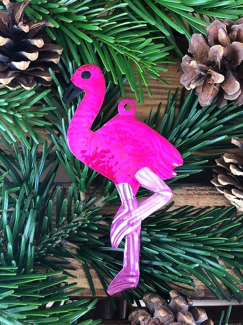 Flamingo - Christmas Tree Tin ornament