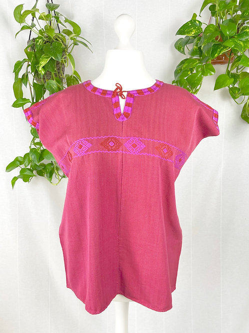 Aldama blouse - Red and pink