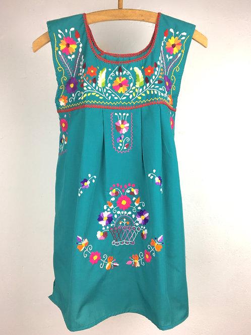 Sleeveless Puebla blouse - Teal