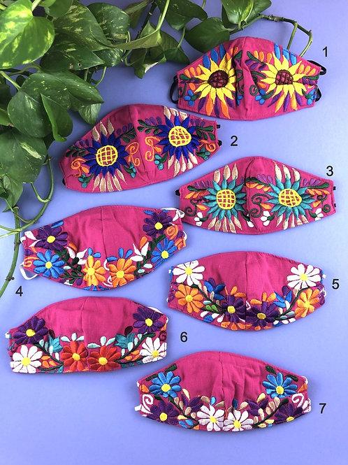 Flores Tehuacan - Rosa Face mask