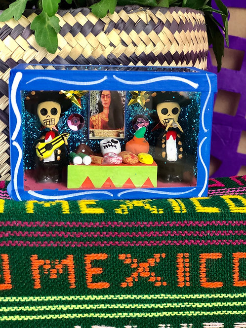 Frida Altar with Mariachi Calavera Mini Box
