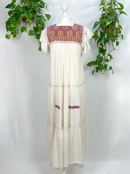 Beige maxi dress Andrea - One size fits all