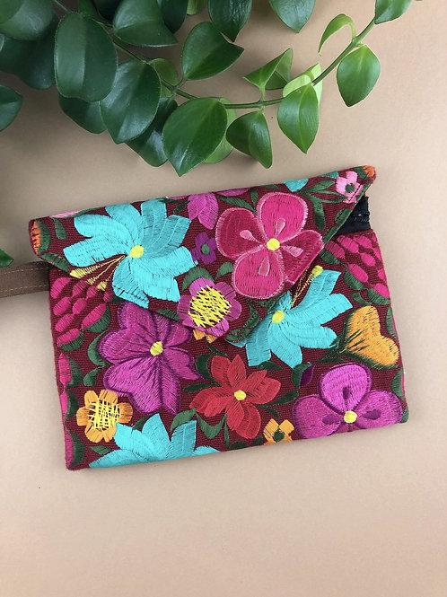 Clutch bag - Las Flores wrist strap