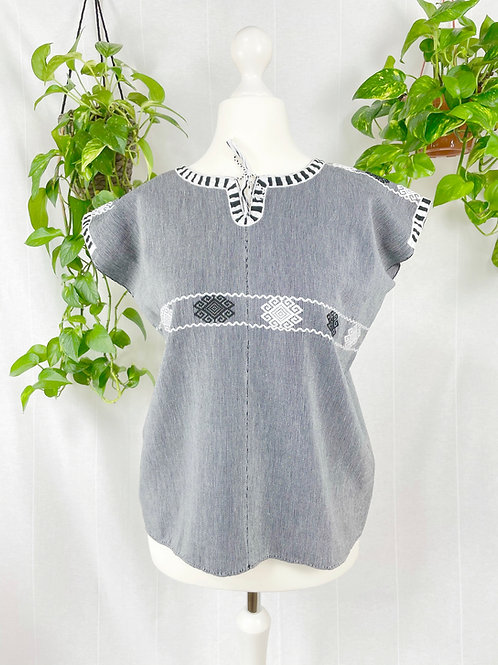 Aldama blouse - Black and white