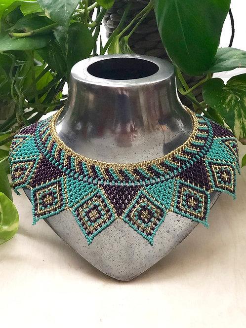 Huichol necklace - Kaknab