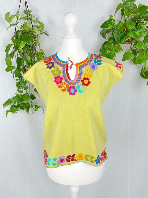 Dominga woven blouse - Lime