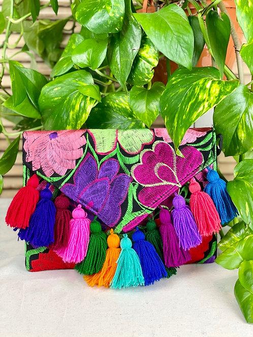Las Flores clutch bag - Multicolor 5