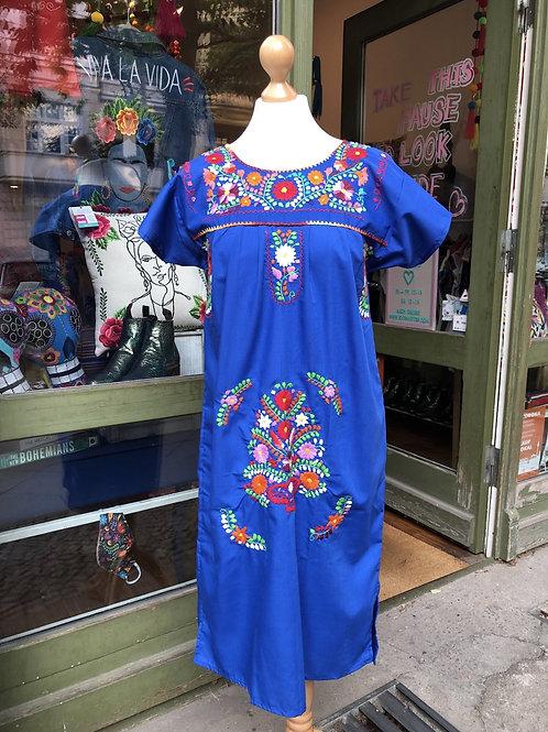 Blue Puebla dress - Small
