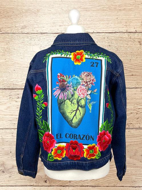 Jeans Jacket - El Corazon size 38 - Dark denim
