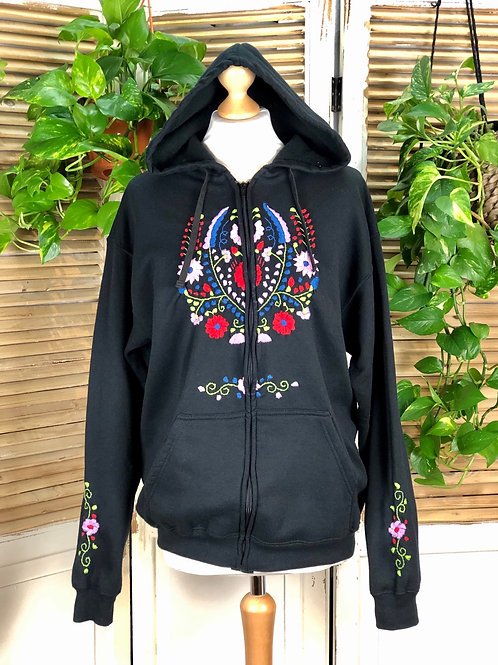 Tehuacan Hoodie with zipper - Extra Large