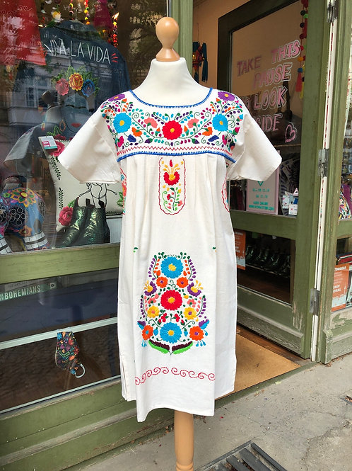 Cotton short Puebla dress - Medium