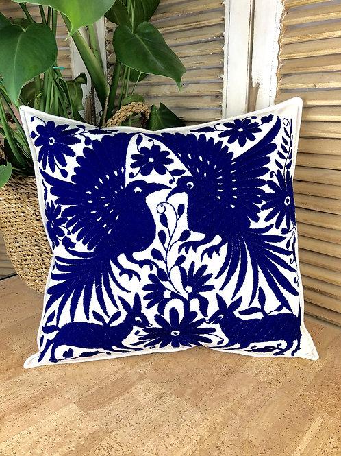 Otomi cushion cover - Cobalt blue