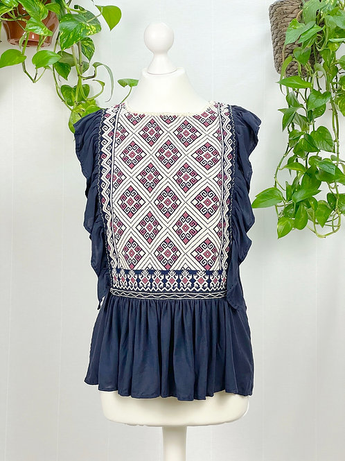 Lidia blouse navy blue - Small